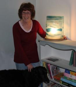 Fused Glass Lamp winner