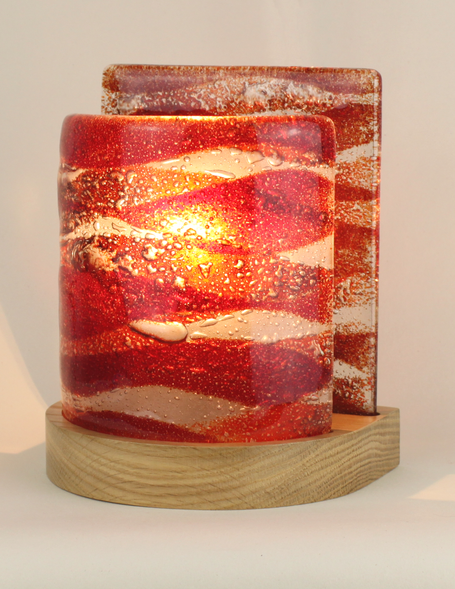 Small Fused Glass Table Lamp