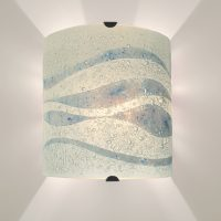 Fused Glass Wall Lights - Helford Mist