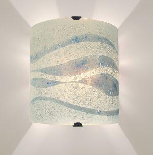Fused Glass Wall Lights - Helford Mist