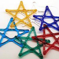 Glass Stars Hand Made Christmas Decorations