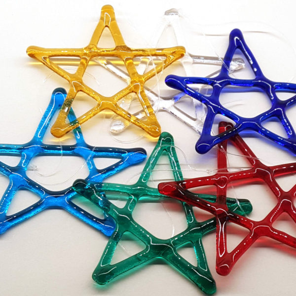 Glass Stars Hand Made Christmas Decorations