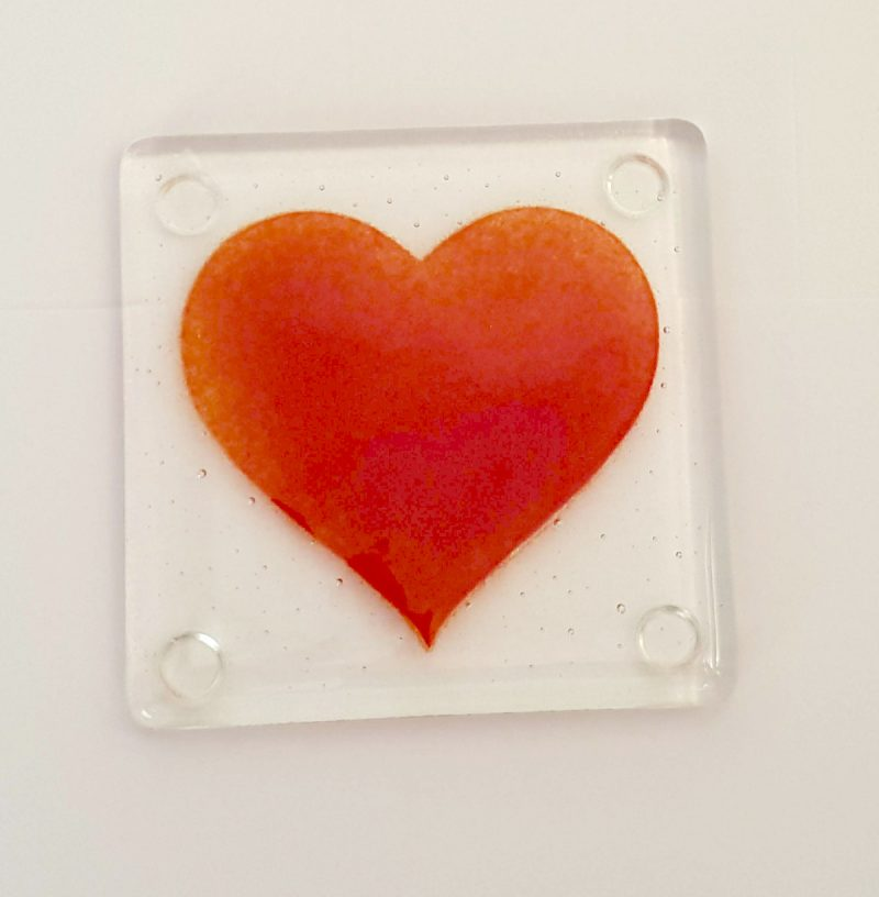 Red Heart Coaster