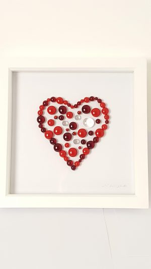 Red Heart Bead Picture Detail