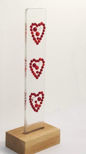 standing lightcatcher red hearts