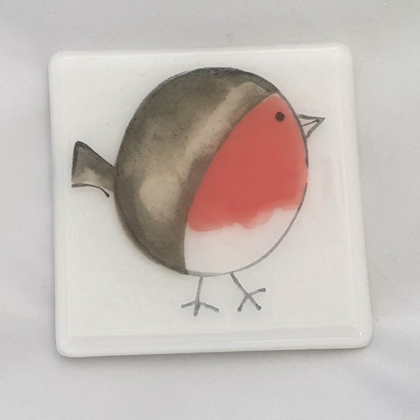 Robin Christmas Coaster