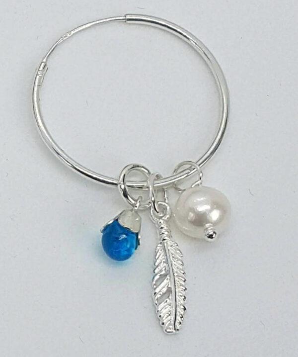 sterling silver hoop detail