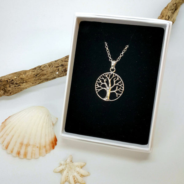 tree of life sterling silver pendant necklace
