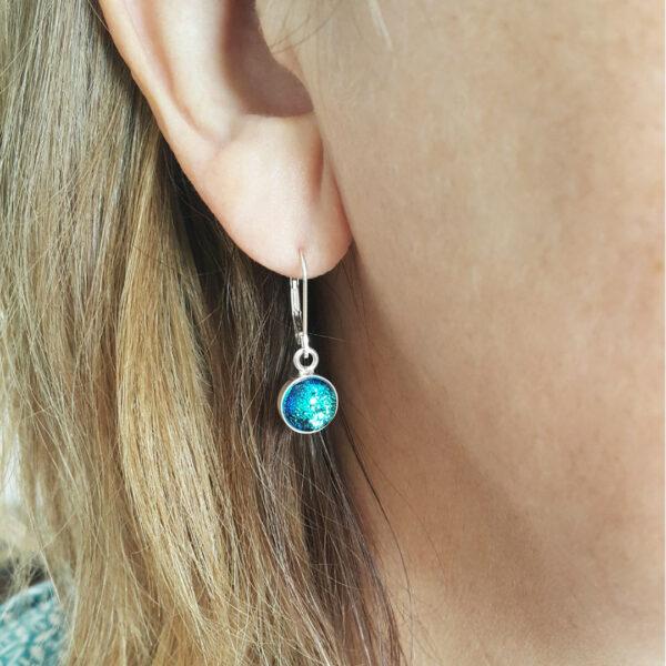 lamorna 7mm drop earring wearing