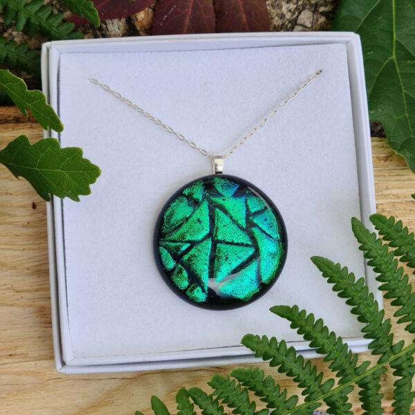 zennor pendant emerald green