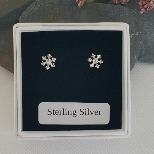 small snow flake earrings